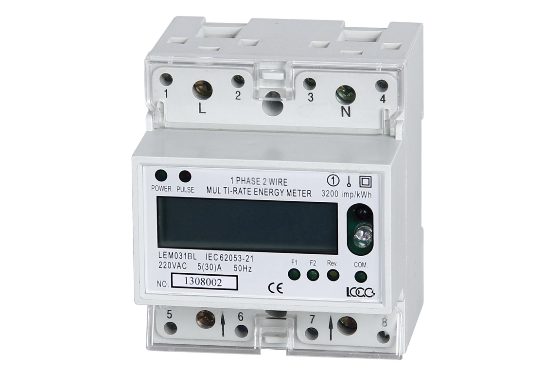 LEM031 Series DIN Rail Single Phase Multi-rate Electronic Energy ...