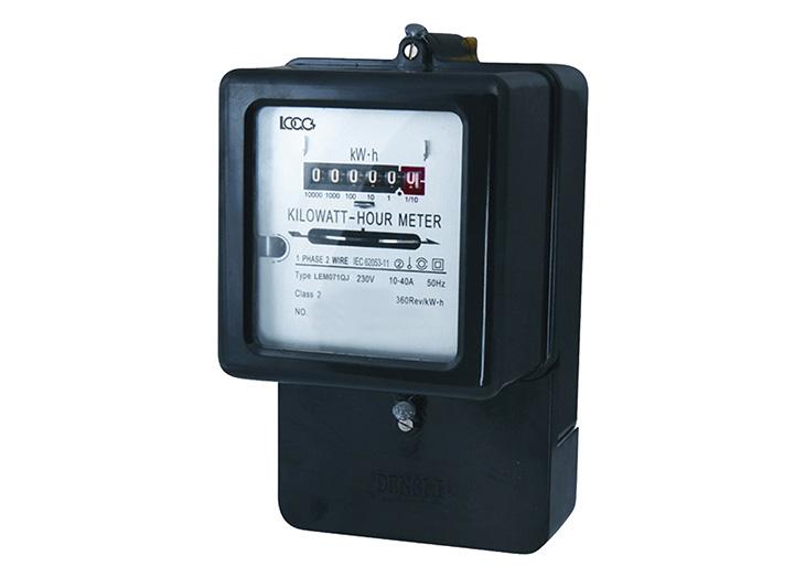 Single Phase Meter Mechanical : Lem series single phase electromechanical energy meter